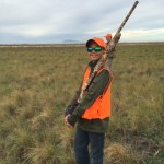 Logan Lindberg on his first pheasant Hunt